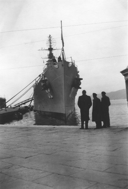 USS Little Rock CL92 at Trieste, Italy