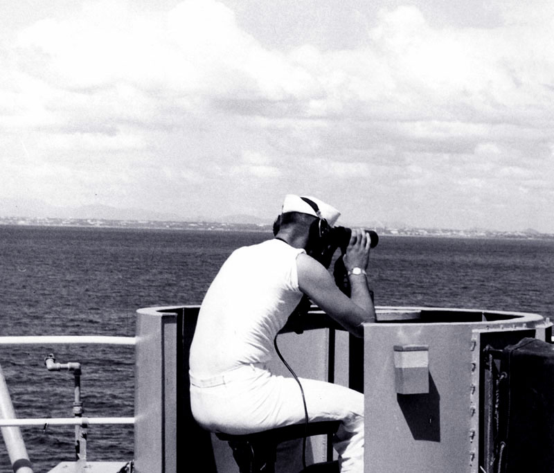 Lookout duty off Dominican Republic