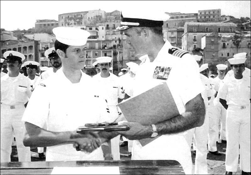 Dean Zaharis received Sailor of the Year Award