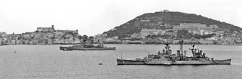 CLG 4 and CLG7 at Gaeta, Italy 1973