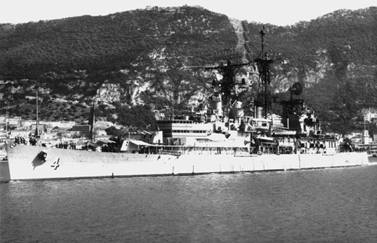 USS Little Rock at unknown locale