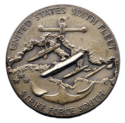 6th Fleet Annivesary Coin (Front)