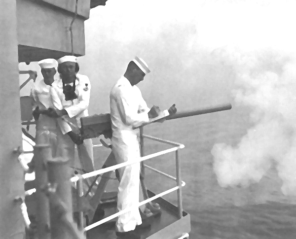 USS Little Rock Saluting Gun (Stbd Side)